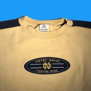 Vintage Notre Dame Adidas Crewneck